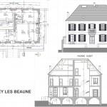 Dessin - Releve batiment - Dijon - Archiservice