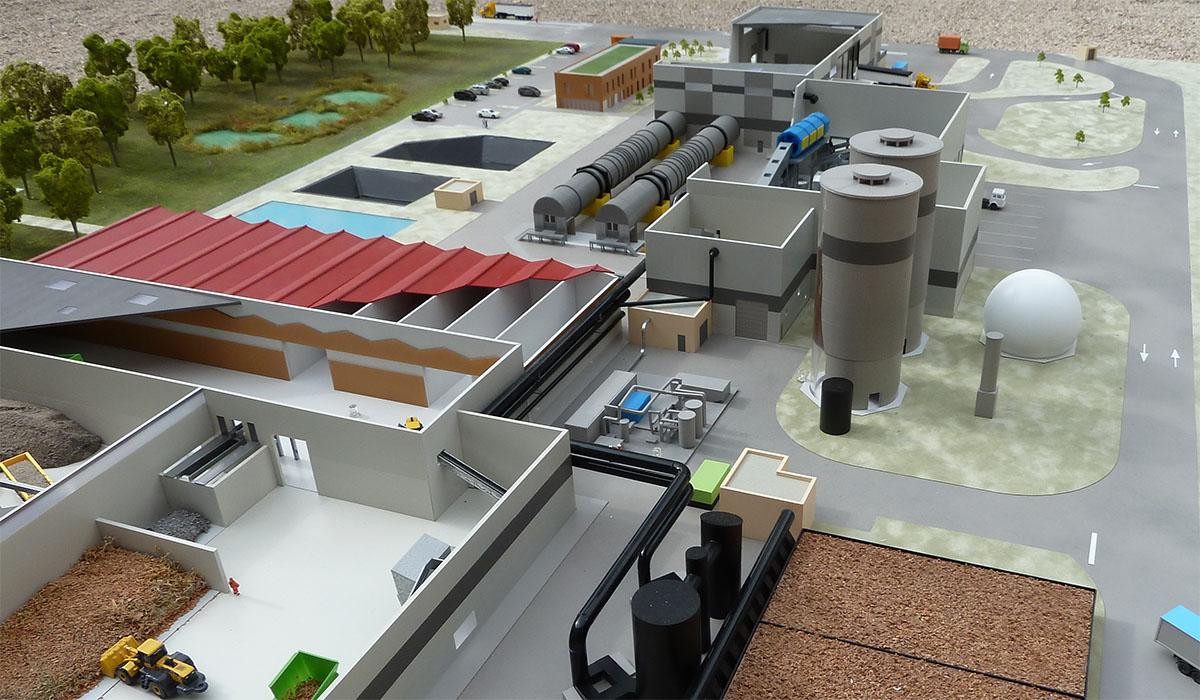 Unité de tri méthanisation compostage